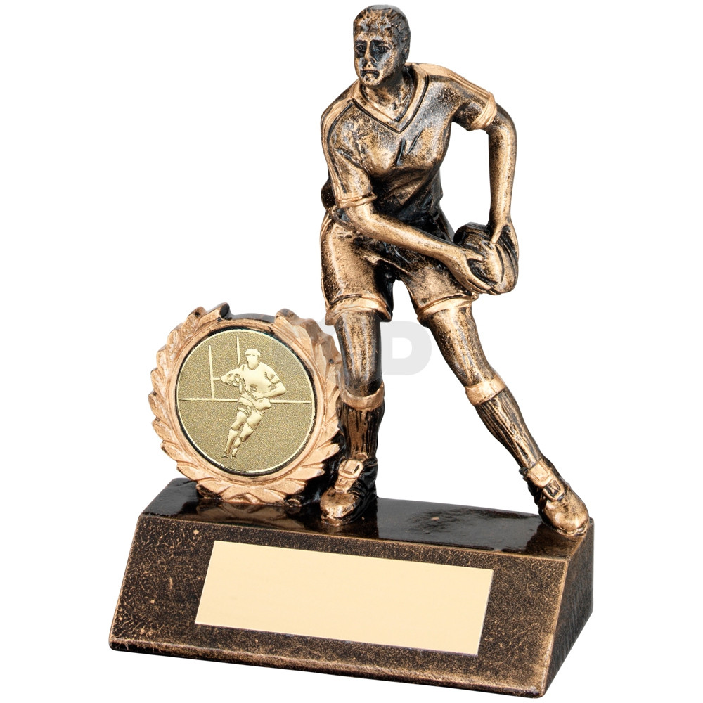 Resin Mini Female Rugby Trophy