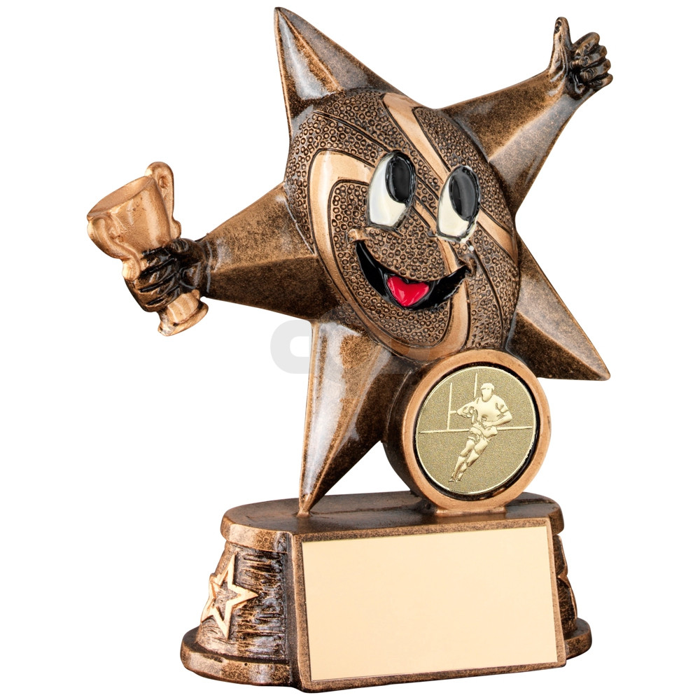 Resin Rugby 'Comic Star' Figure Trophy