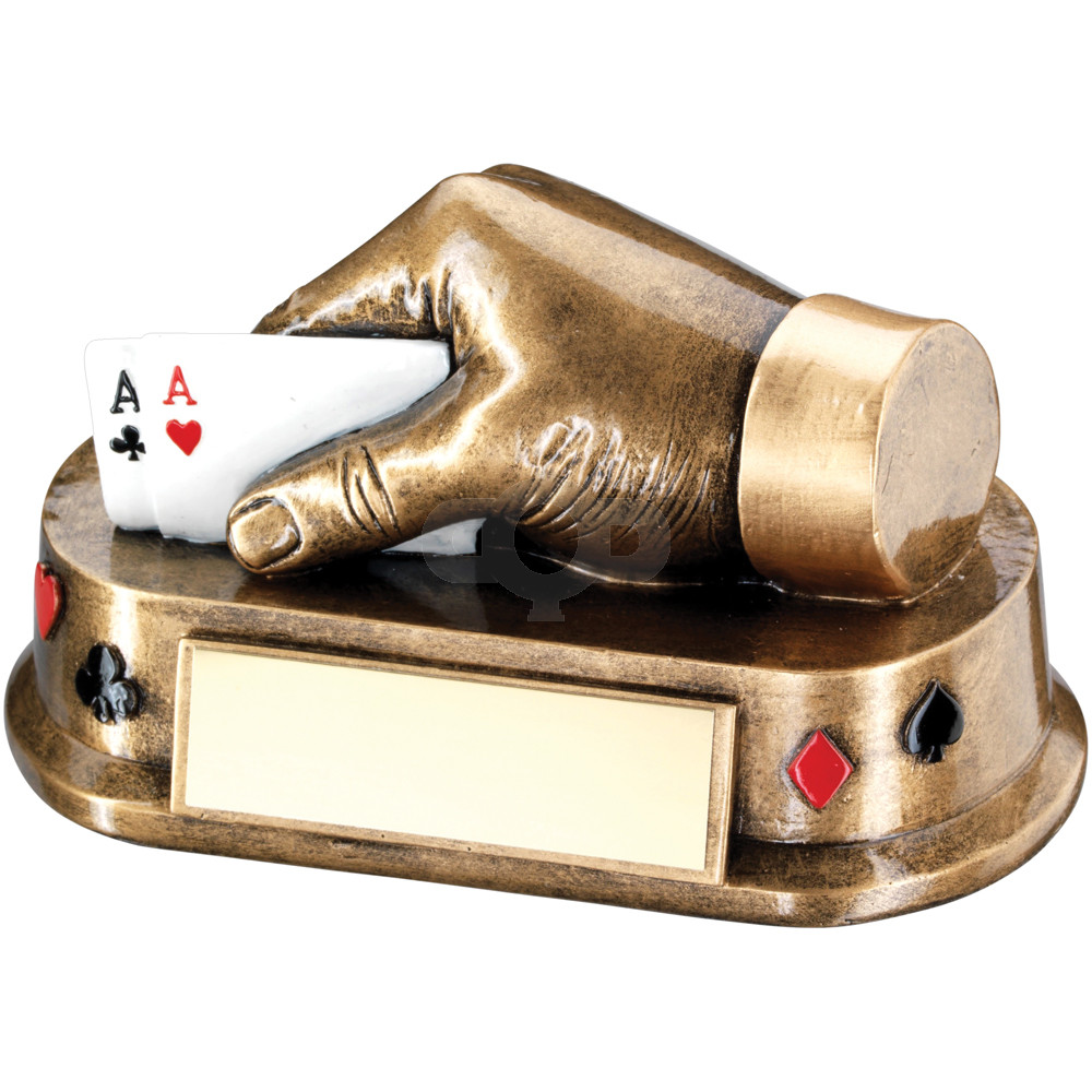 Multi Cards Hand Trophy