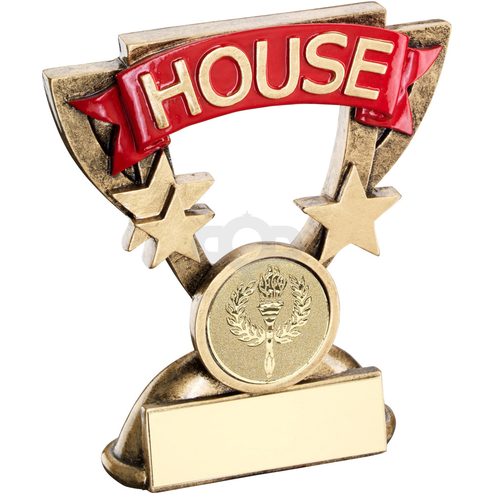 School House Mini Cup Trophy Red