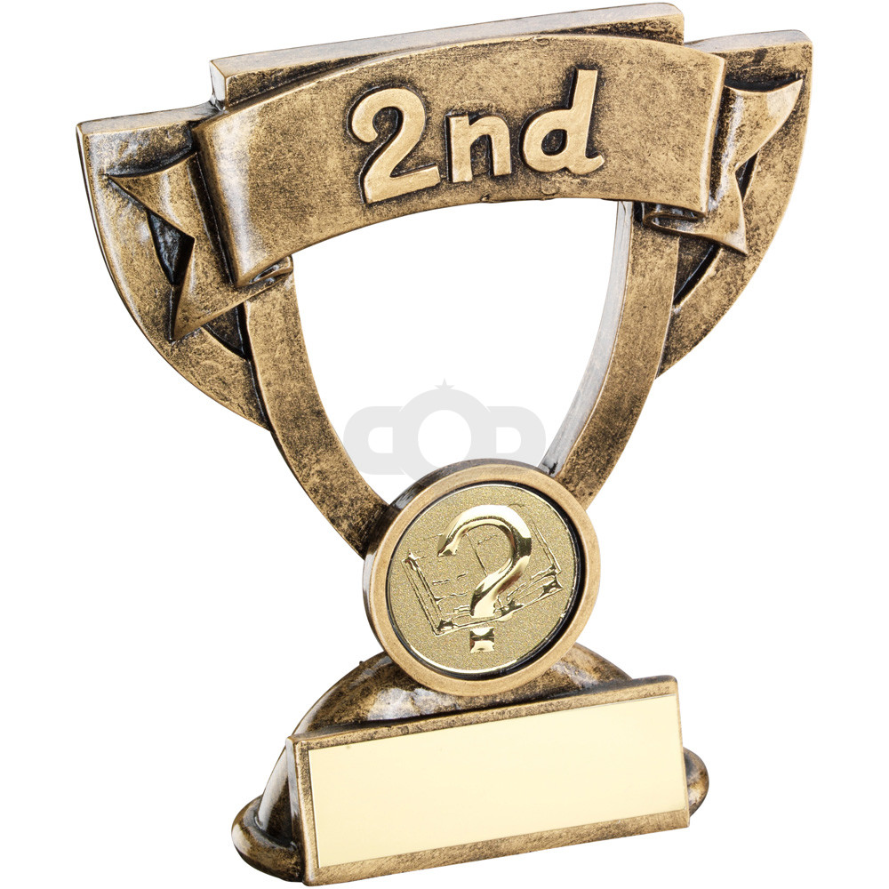 Mini Cup With Quiz Insert Trophy - 2nd