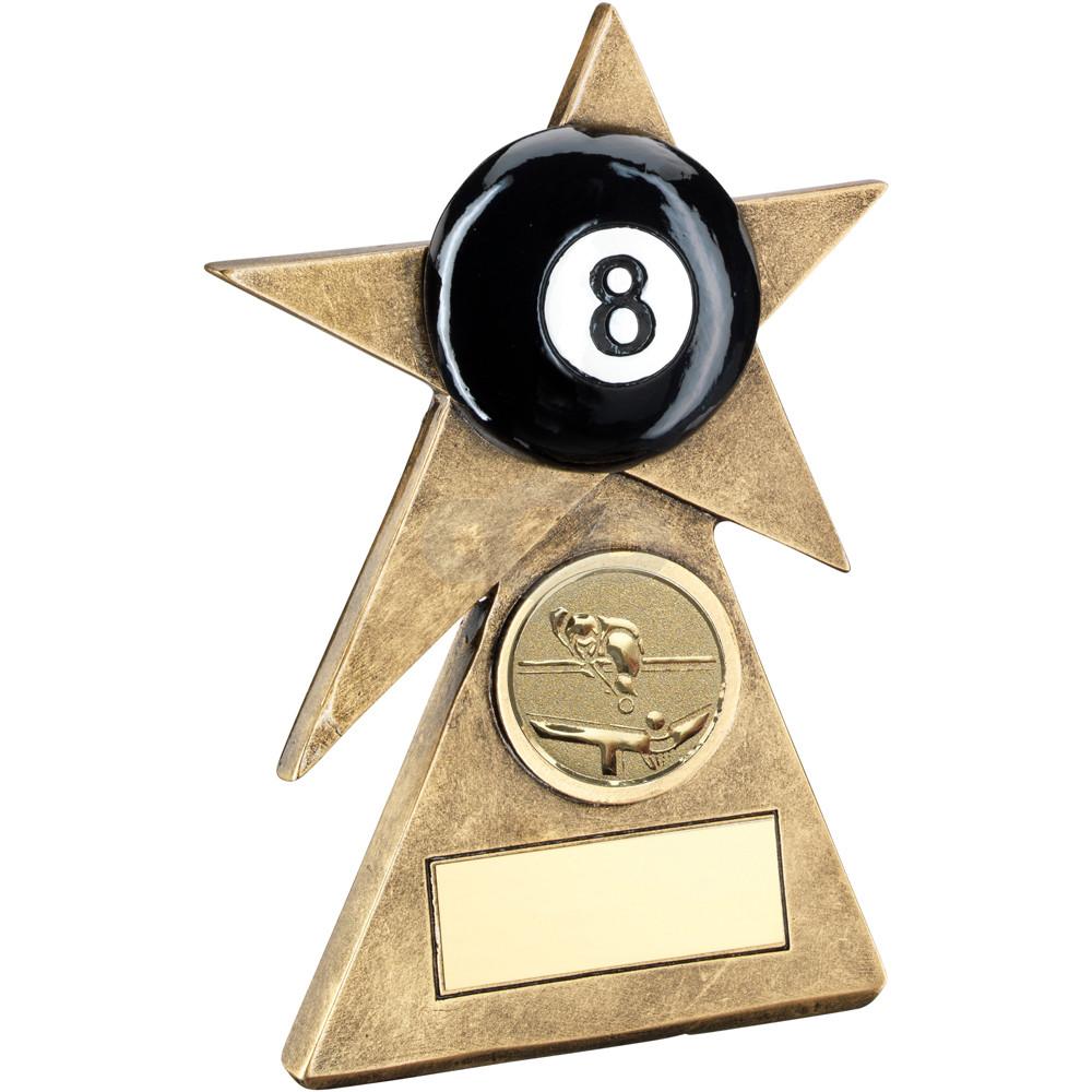 Pool Star On Pyramid Base Trophy