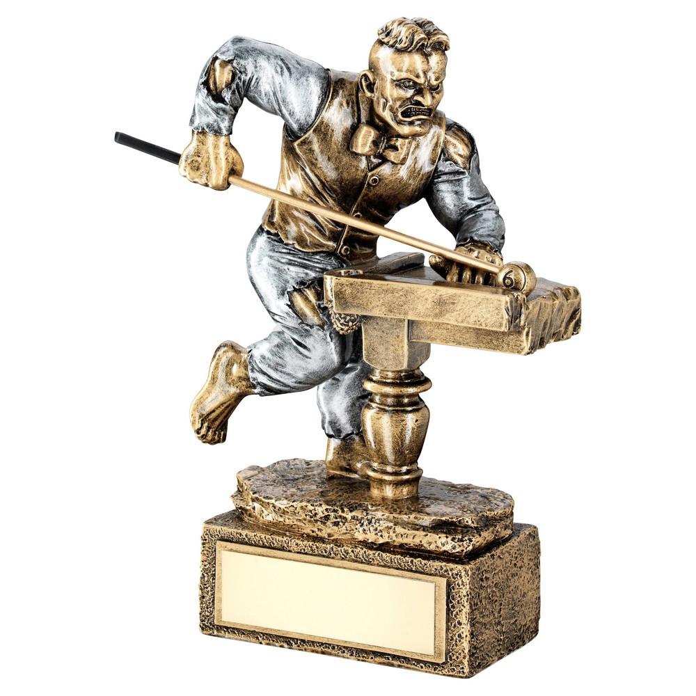Bronze & Pewter Pool/Snooker 'Beasts' Figure Trophy