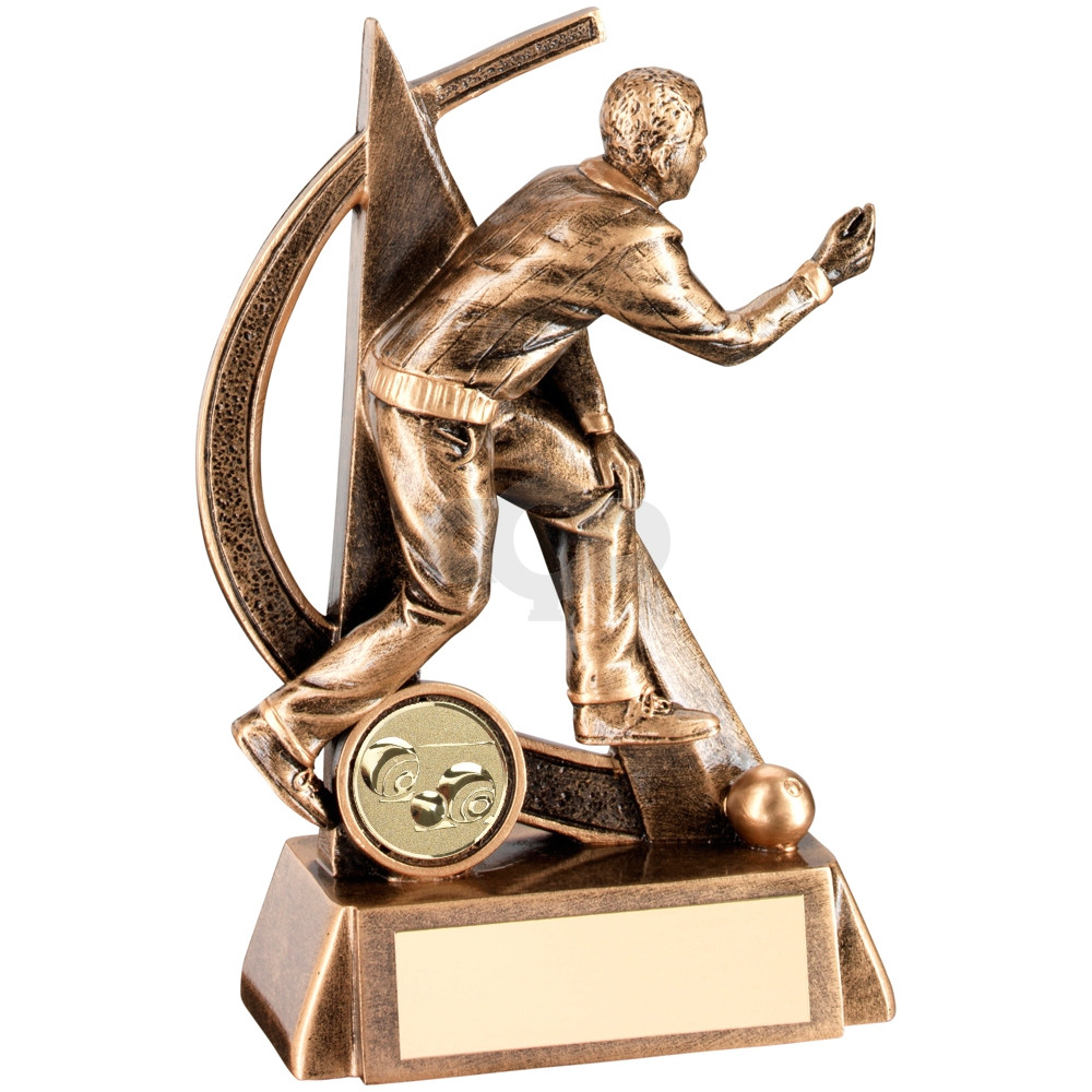 Male Lawn Bowls Geo Figure Trophy