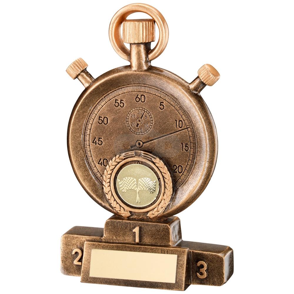 Motor Sport Stopwatch On Podium Trophy