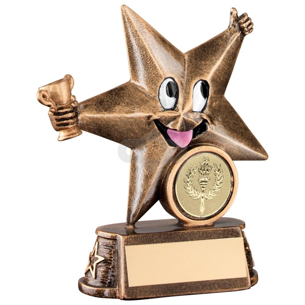 Resin Generic 'Comic Star' Figure Trophy