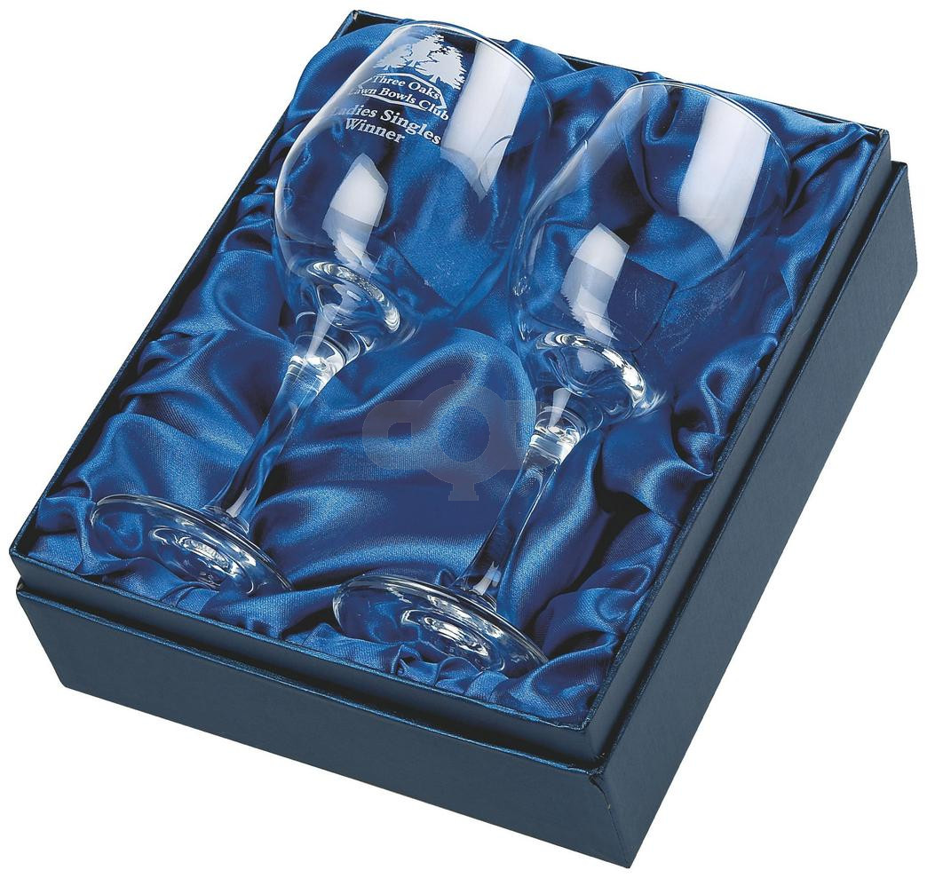 Two Wine Glasses in Presentation Box