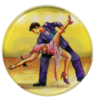 Latin Dancers centre - Acrylic