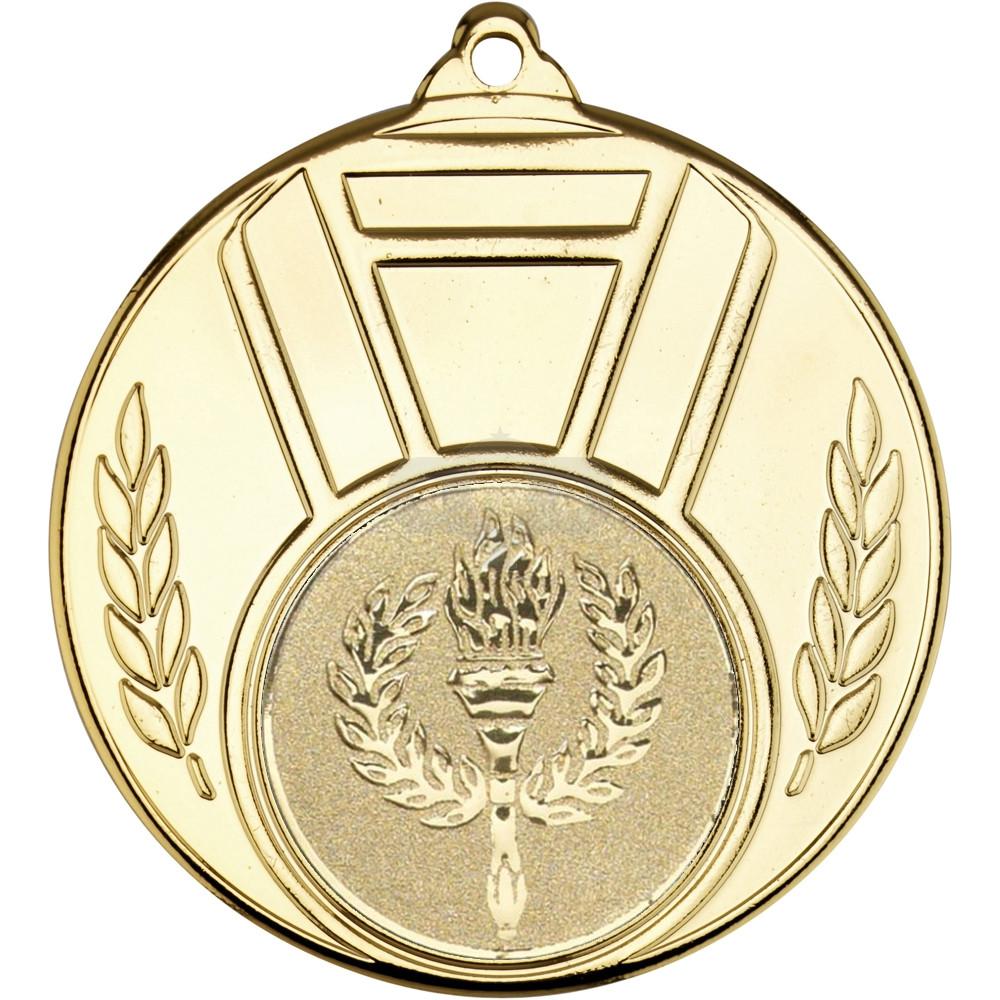 Ribbon And Leaf Medal Gold