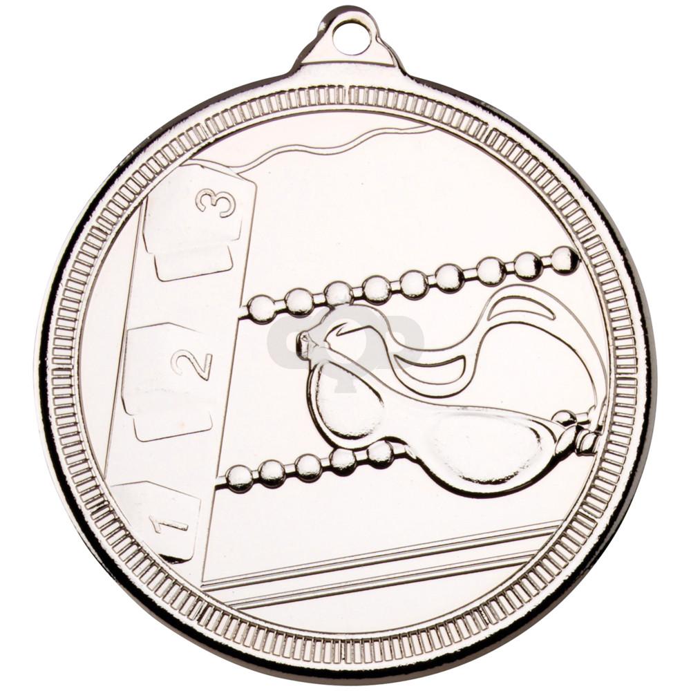 50mm Swimming 'Multi Line' Medal