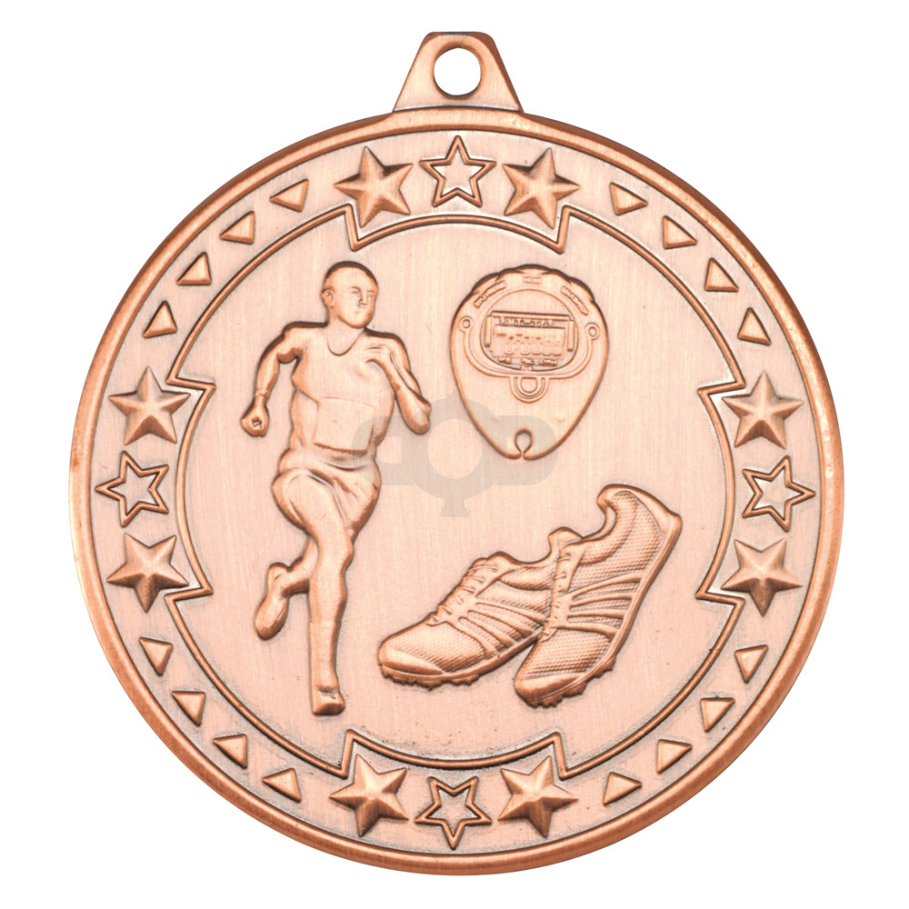 50mm Running 'Tri Star' Medal
