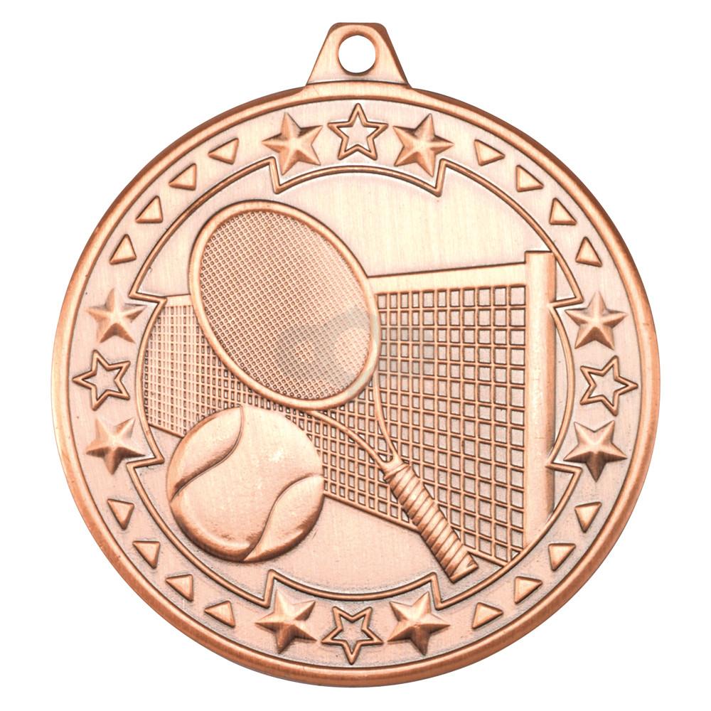 50mm Tennis 'Tri Star' Medal