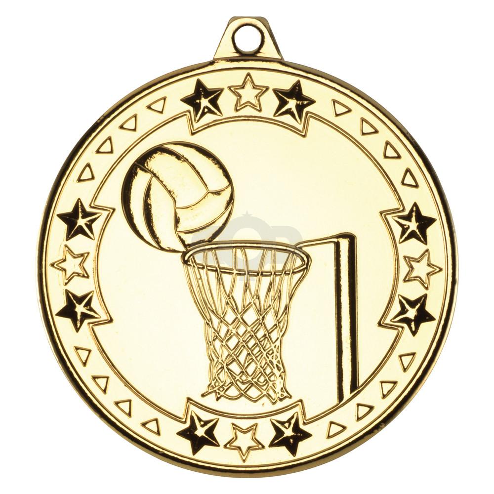 50mm Netball 'Tri Star' Medal