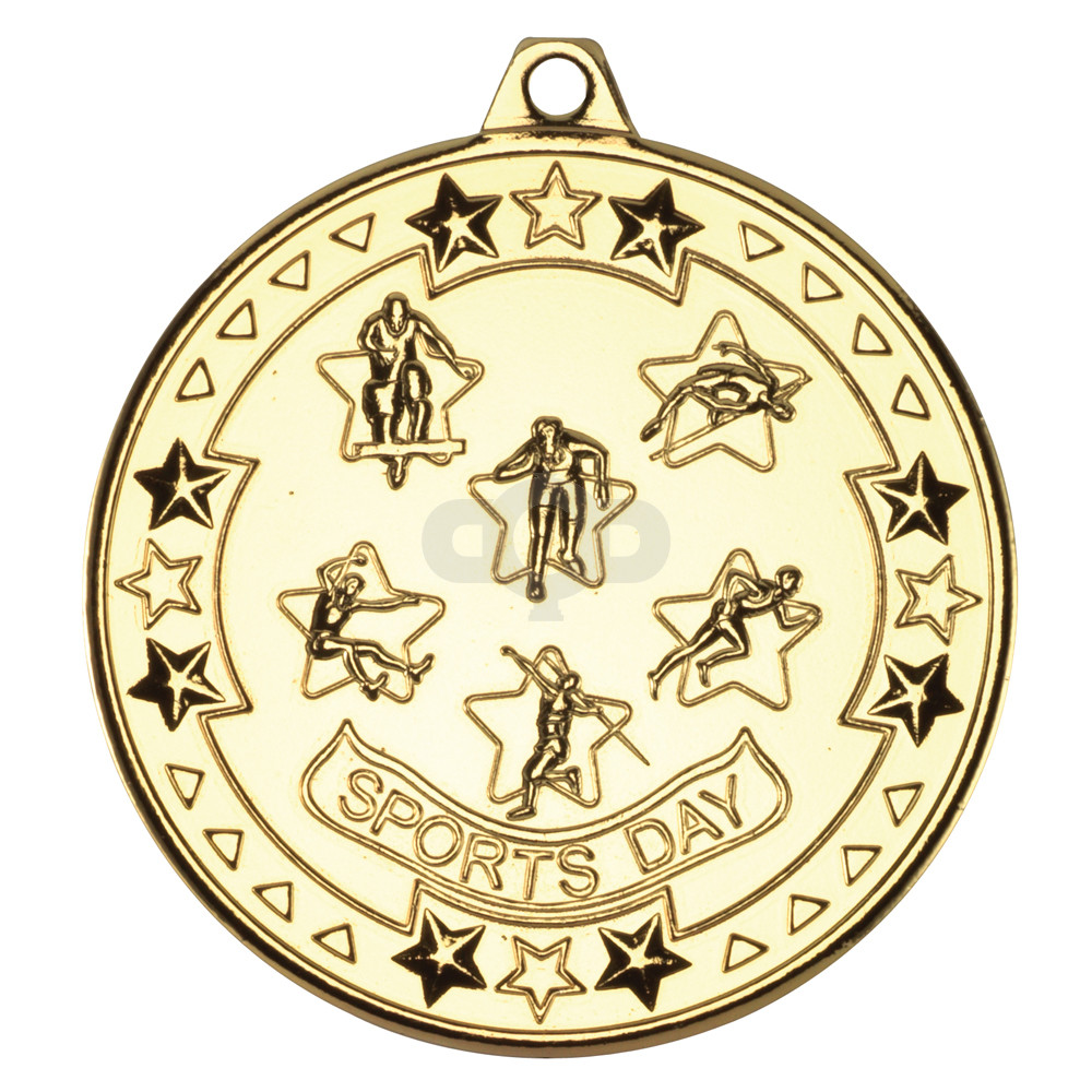 50mm Sports Day 'Tri Star' Medal