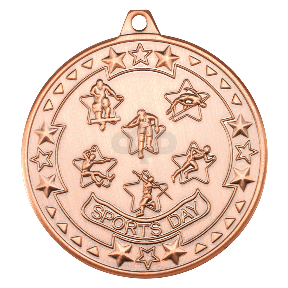 50mm Sports Day 'Tri Star' Medal