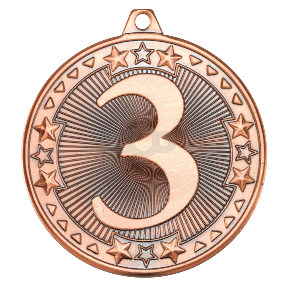 50mm Tri Star' Medal