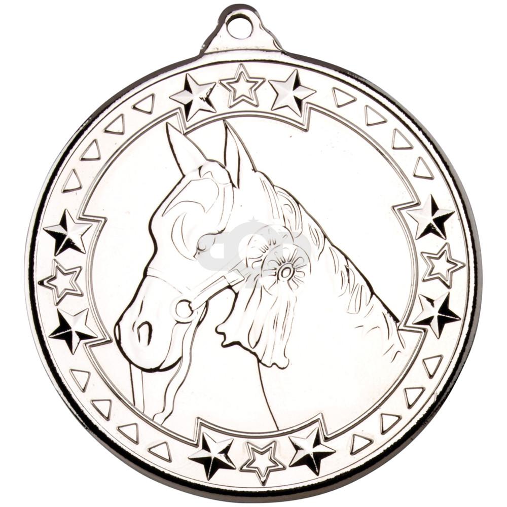 50mm Horse 'Tri Star' Medal