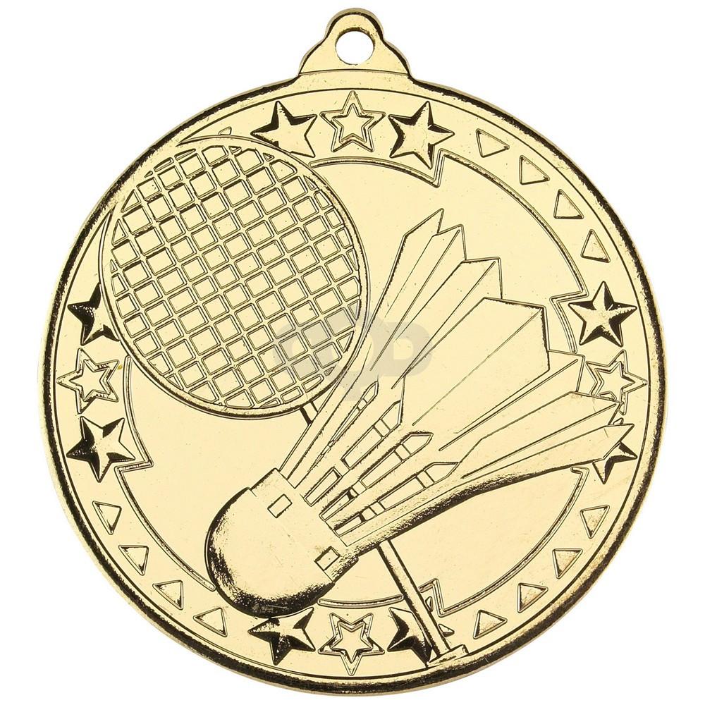 Badminton 'Tri Star' Medal - Gold