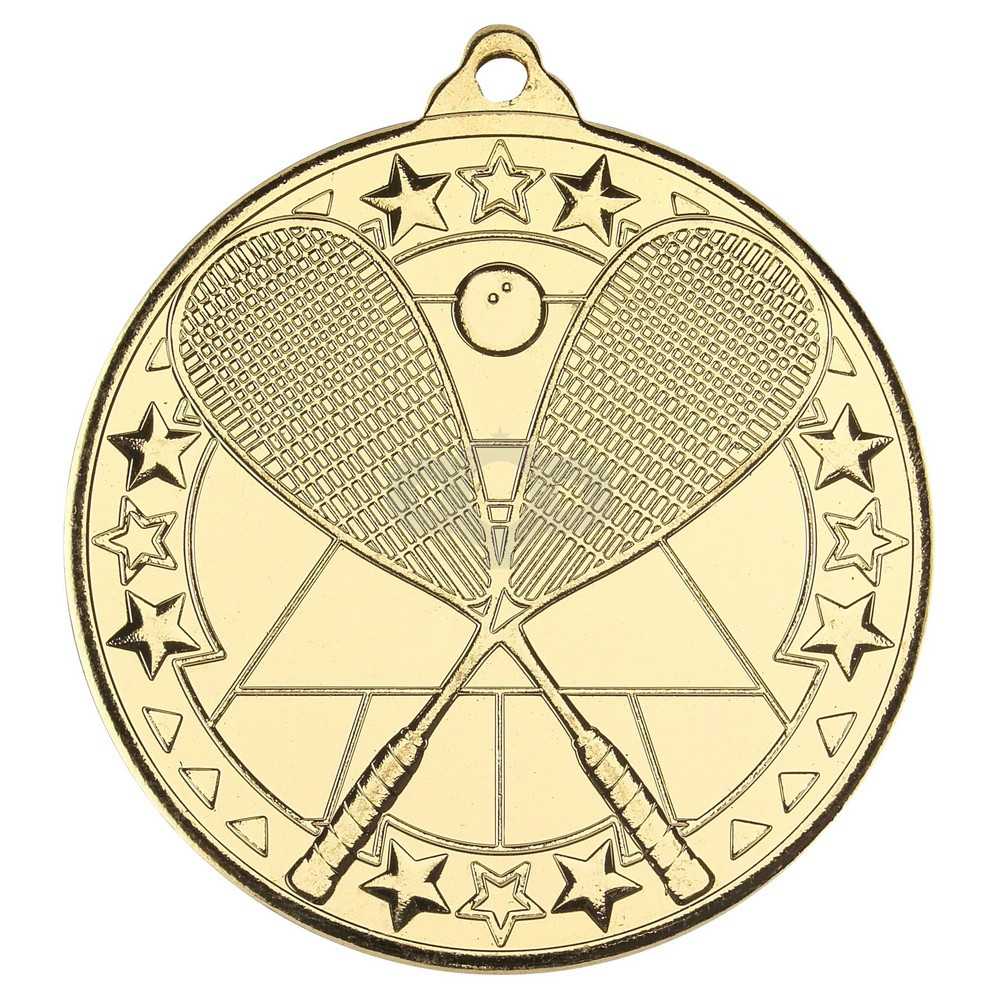 Squash 'Tri Star' Medal - Gold
