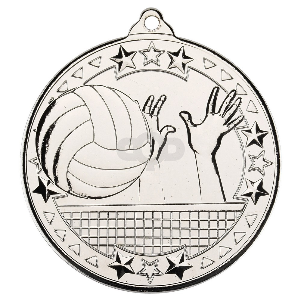 Volleyball 'Tri Star' Medal - Silver