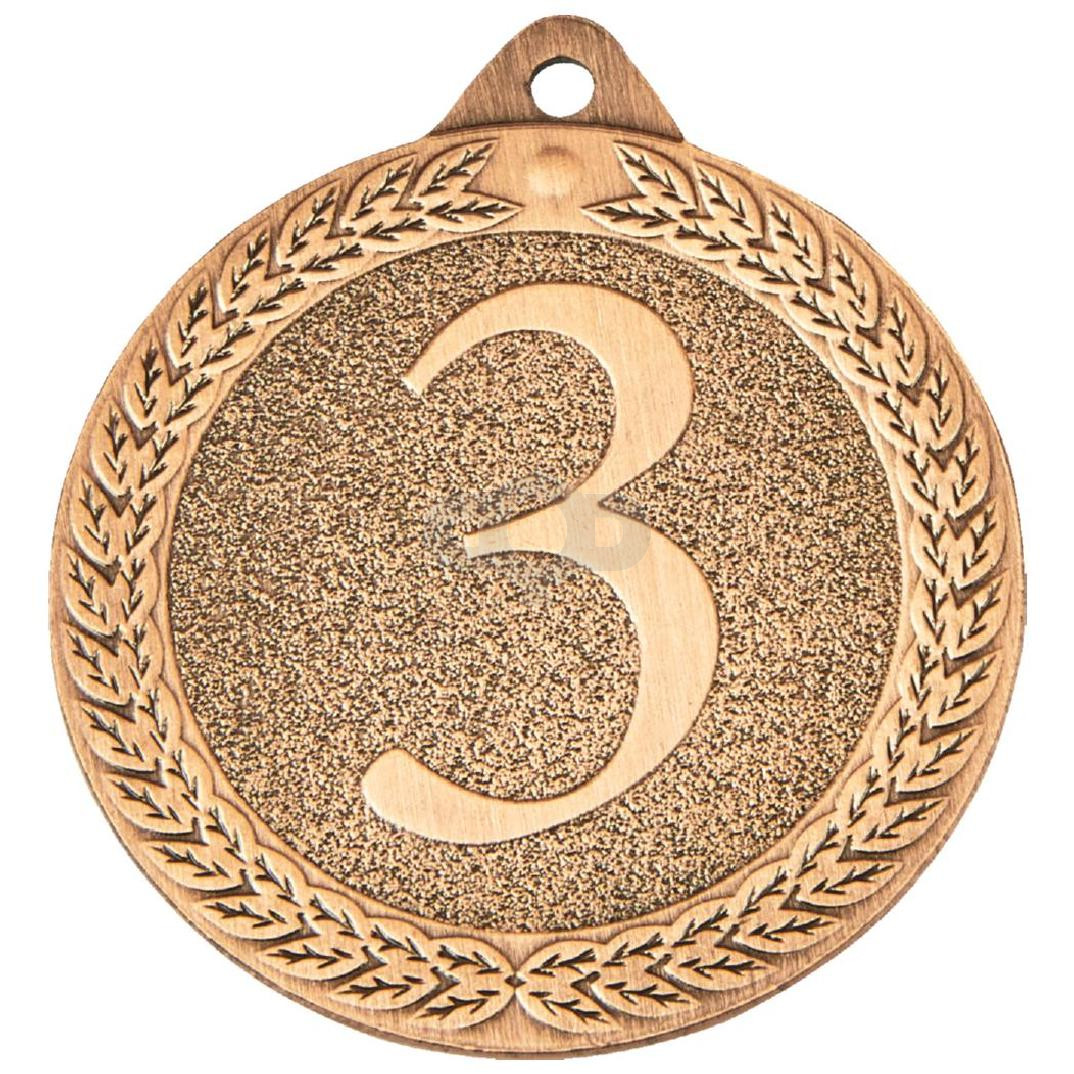 50mm 3rd Place Antique Finish Medals
