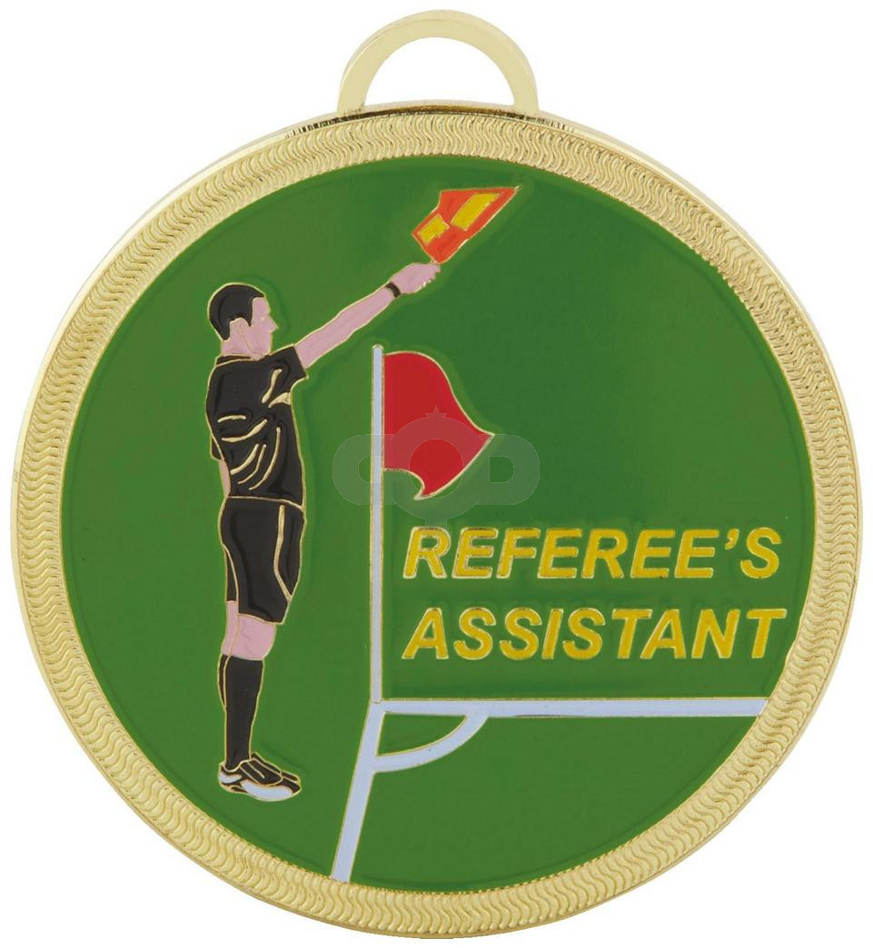 60mm Colour Referee's Assistant Football Medal