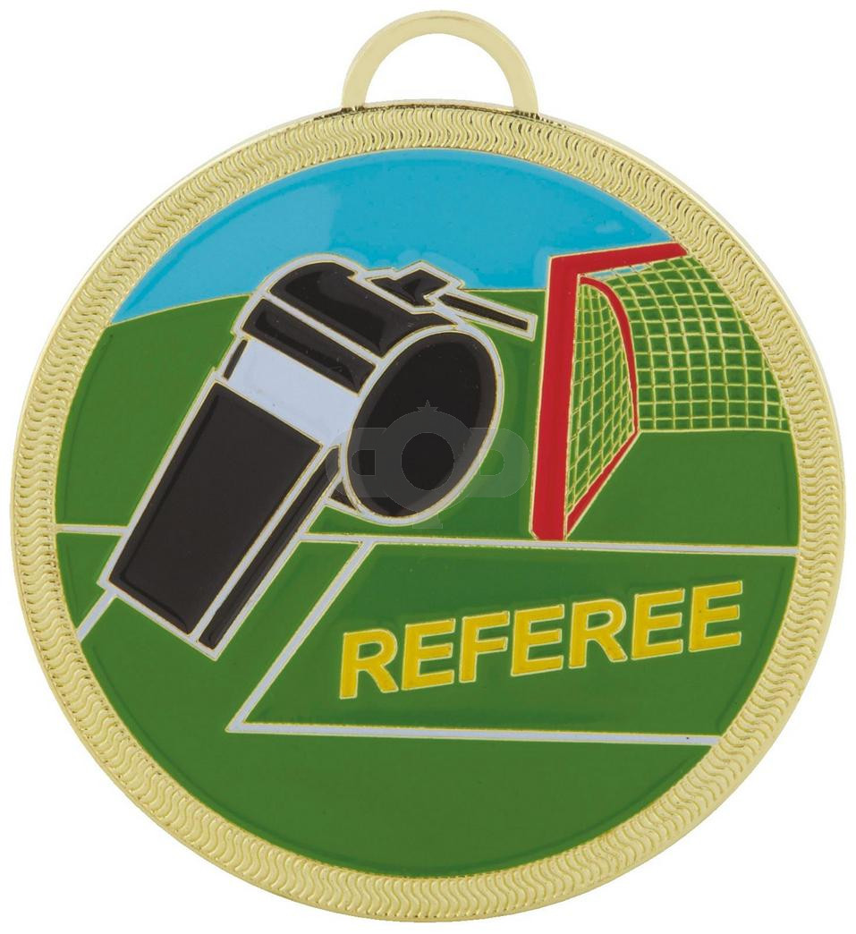 60mm Colour Football Referee Medal