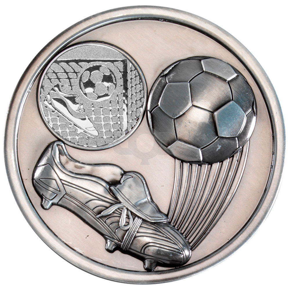 70mm Football & Boot Medallion