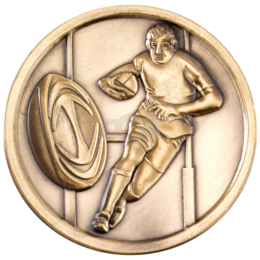 70mm Rugby Medallion