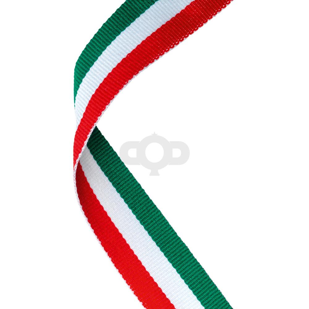 Green, White & Red Ribbon