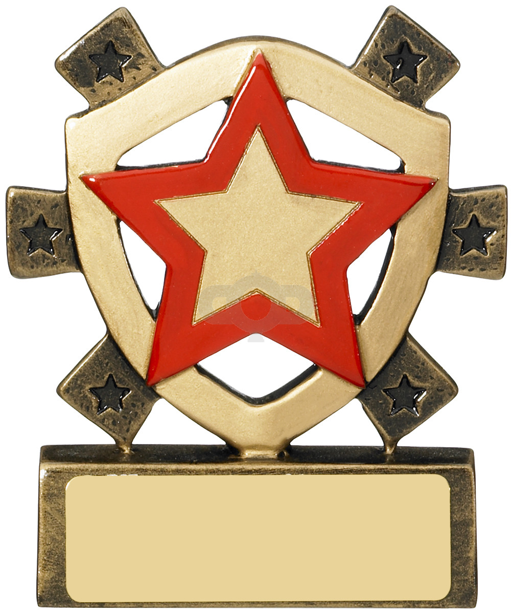 Red Star Mini Shield Award