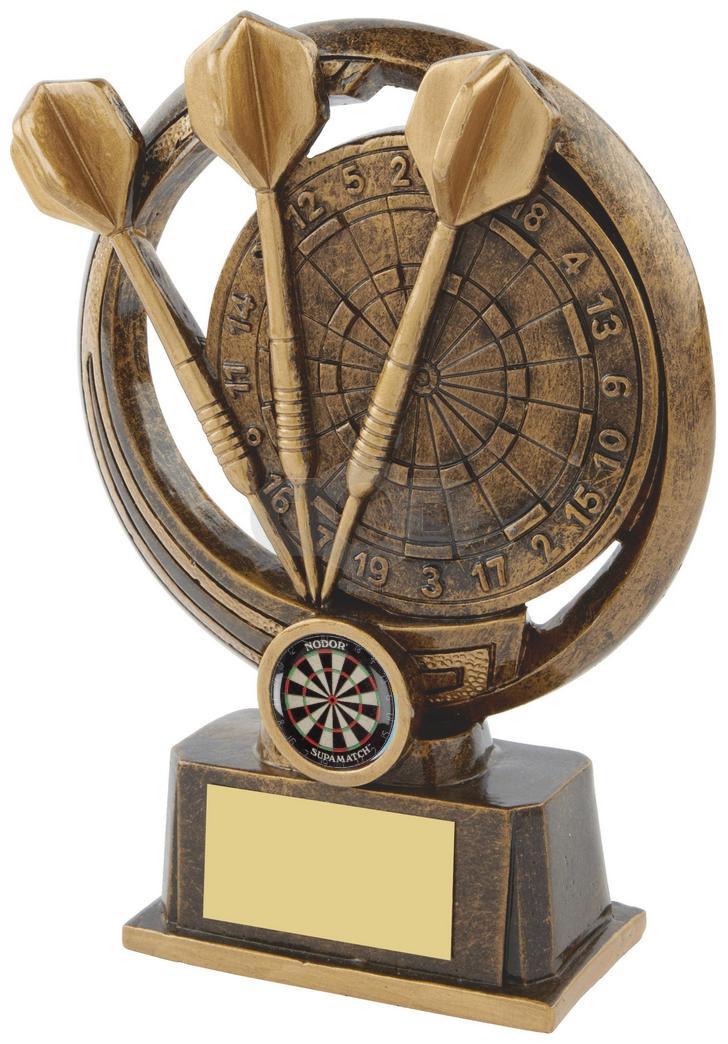 Resin Darts & Board Trophy