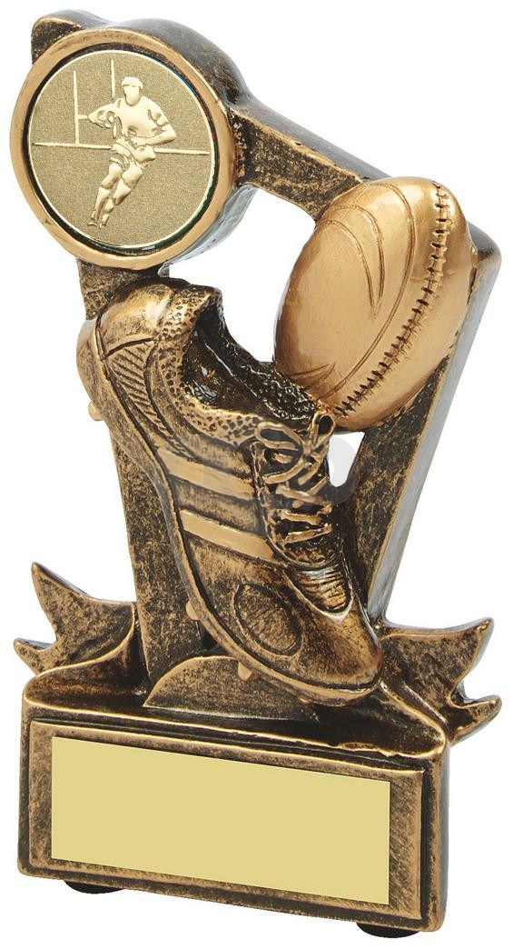 Resin Boot & Ball Rugby Trophy