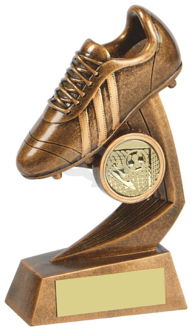 Antique Gold Rugby Boot Resin Award