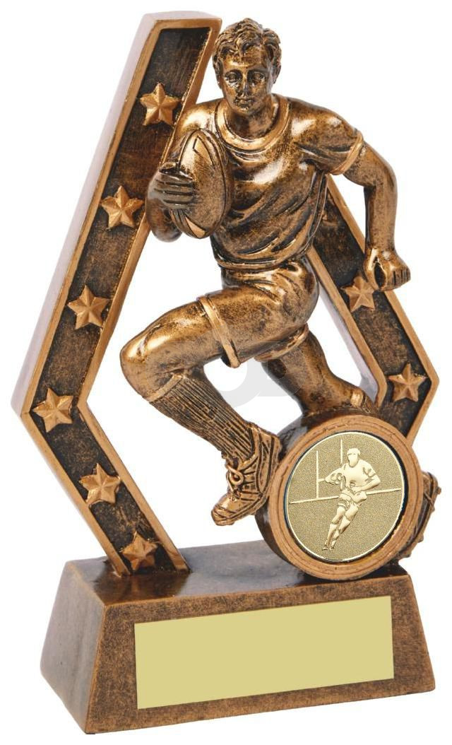 Rugby Player Resin Trophy