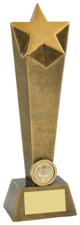 Antique Gold Resin Star Columns