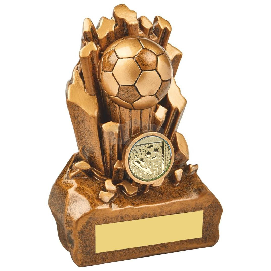 Break Out Antique Gold Resin Football Award