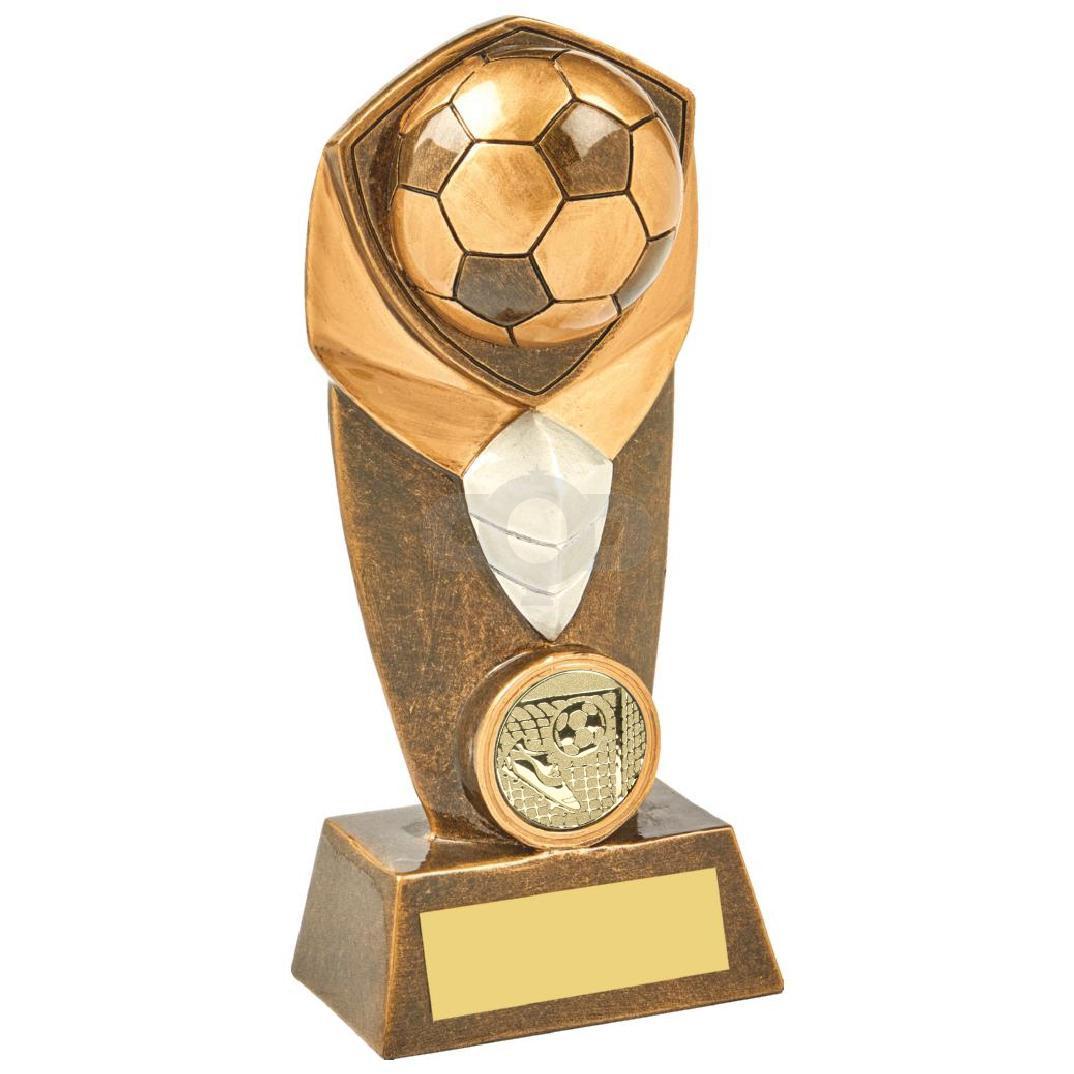 Heavy Antique Gold Football Resin