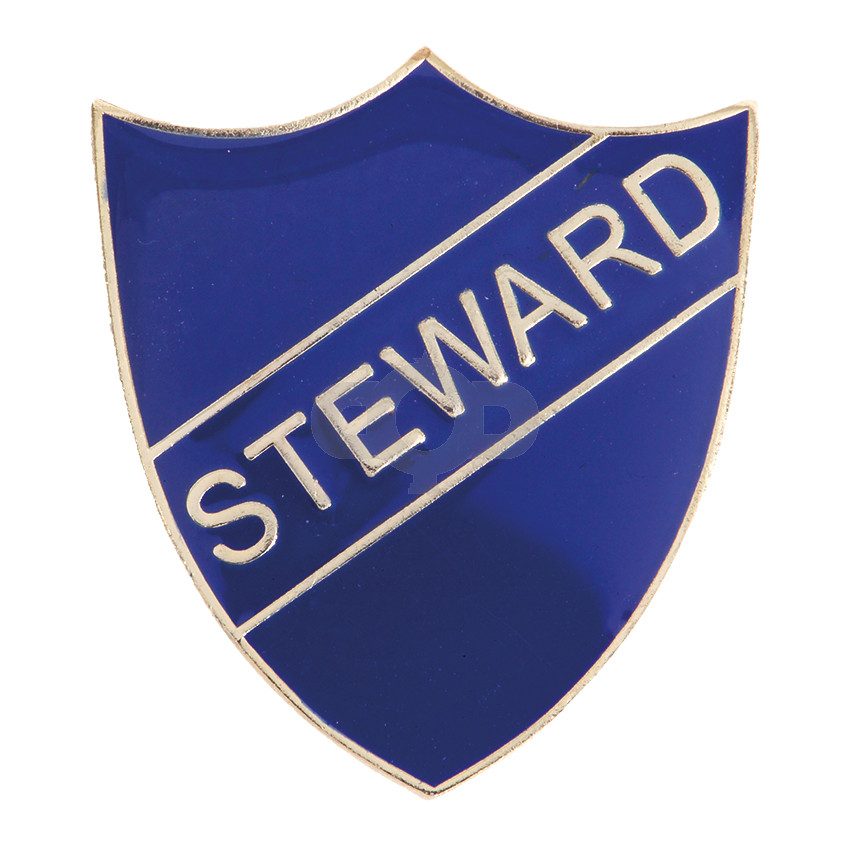 Steward Enamel Shield Badge