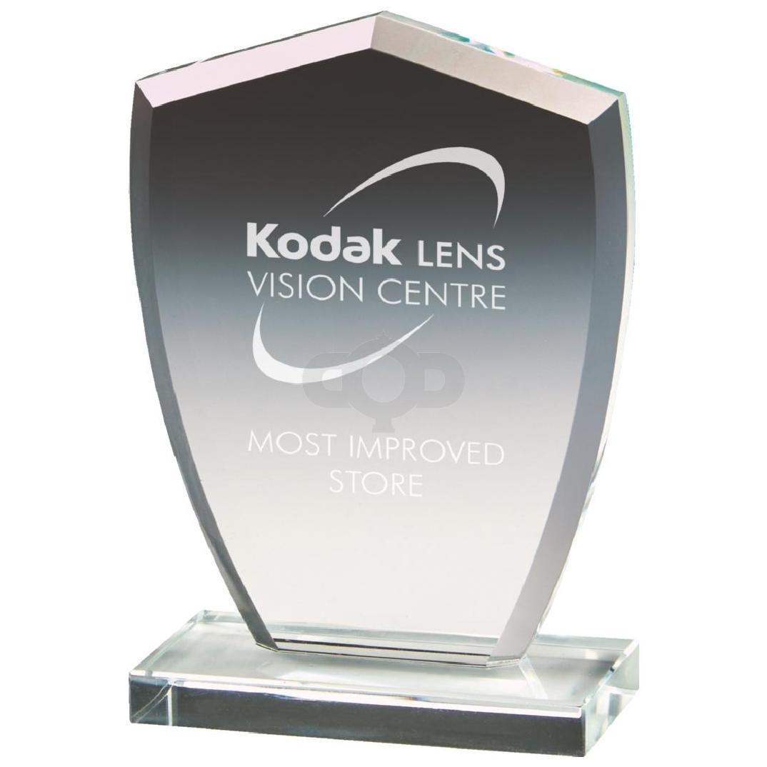 Clear Glass Shield Award