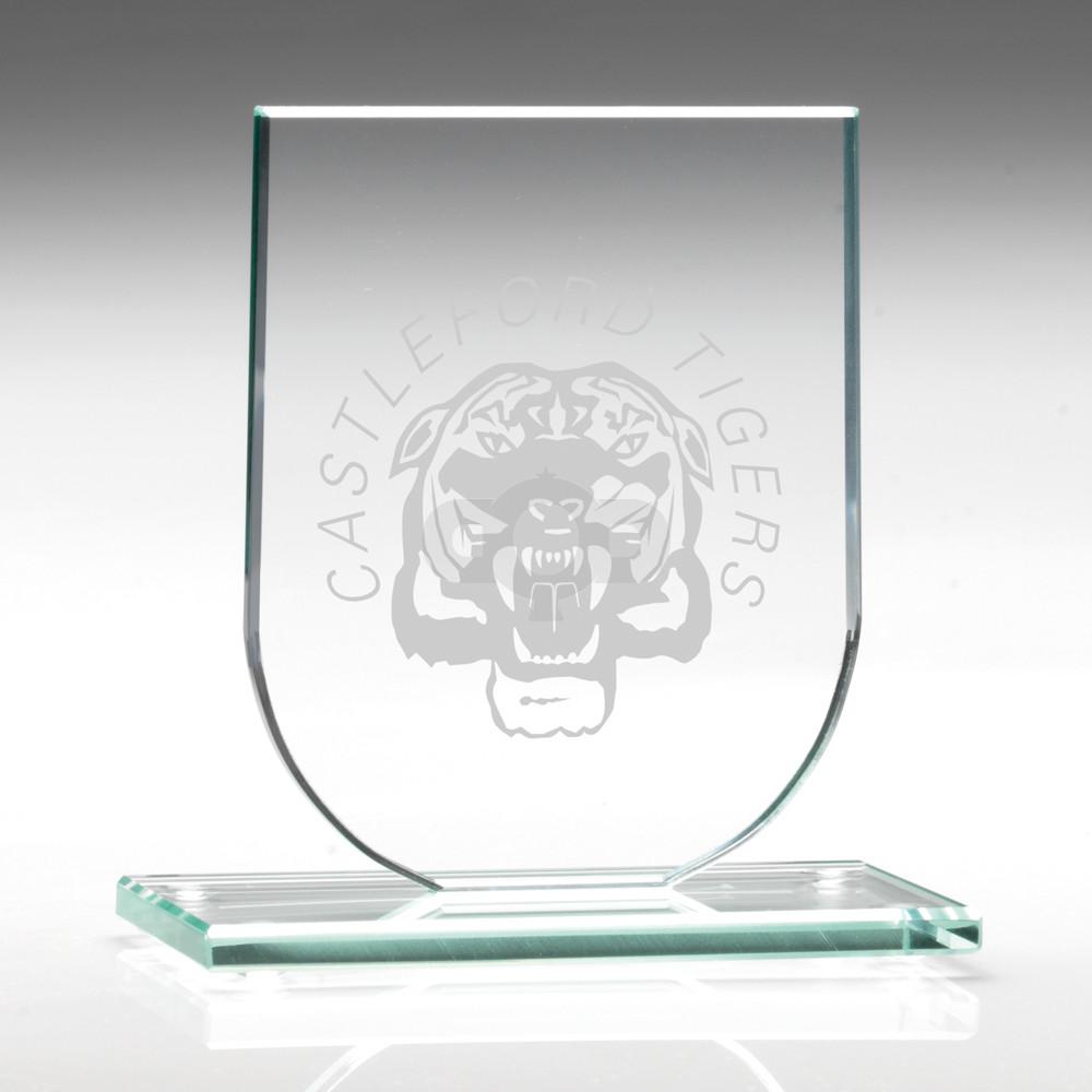 Jade Glass Shield Plaque