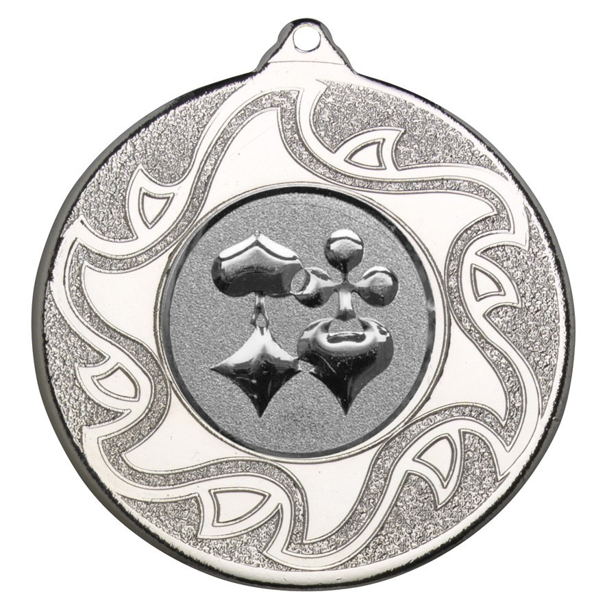 50mm Playing Card Silver Medal
