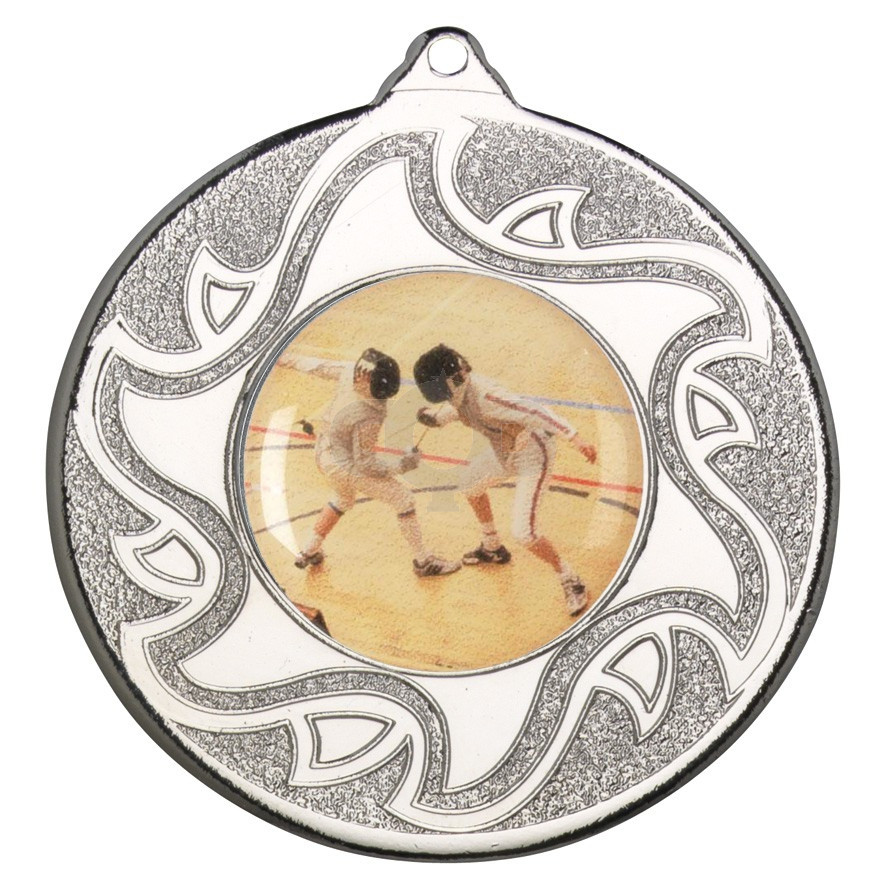 50mm Fencing Silver Medal