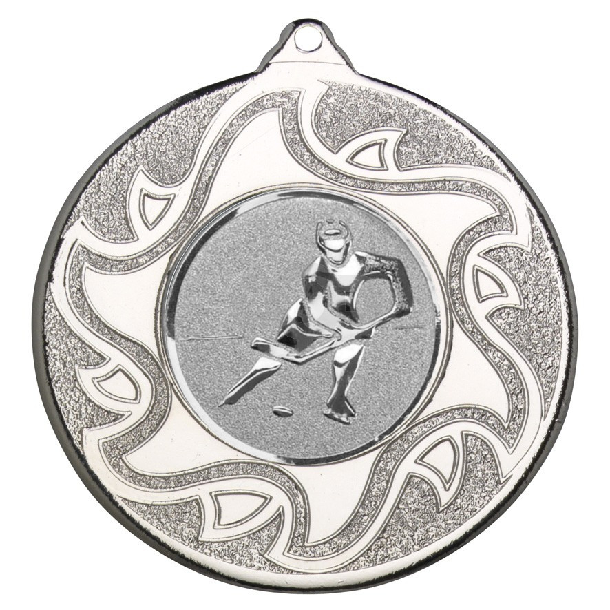 50mm Ice Hockey Silver Medal