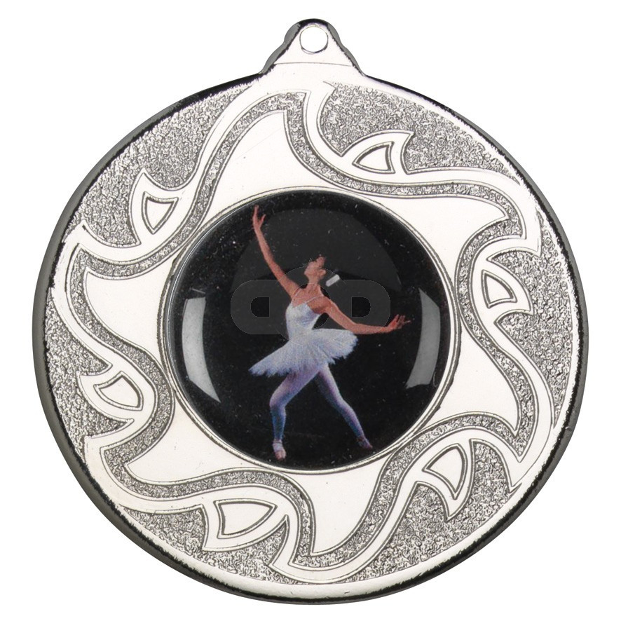 50mm Ballet Dancing Silver Medal