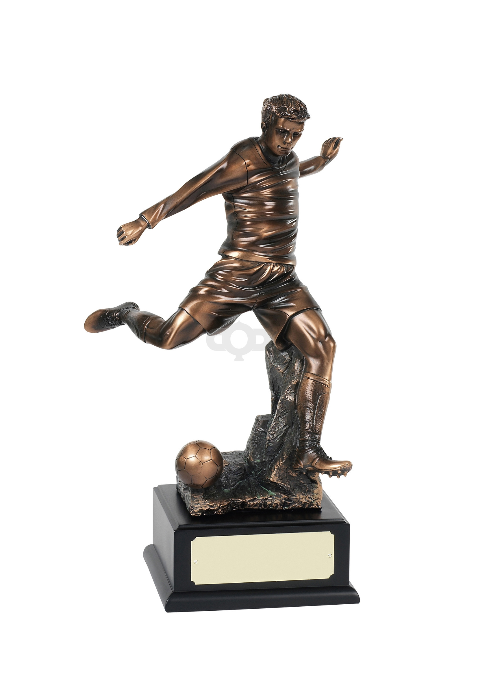 Highly Detailed Bronze Football Striker Trophy