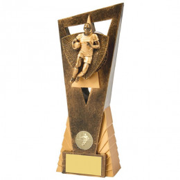 Antique Gold Male Rugby Player Edge Award