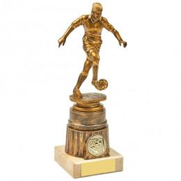 Antique Gold Kicking Female Footballer Award
