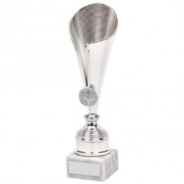 Shiny Silver Sculpture Fold Cup
