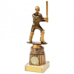 Antique Gold Cricket Batsman Award